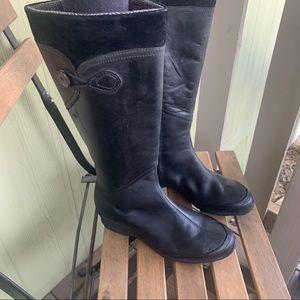 Teva Jade Cove Tall black waterproof leather 6